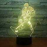 Jeu de Hockey sur Glace Lumière de Couleur visuelle Veilleuse pour Enfants Touchez la lumière de la Table