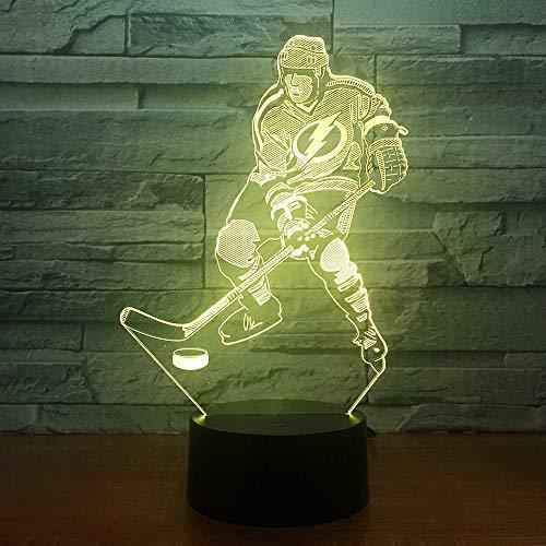 Juego de Hockey sobre Hielo, luz de Color, luz Nocturna Visual, Mesa táctil para niños, luz para el hogar