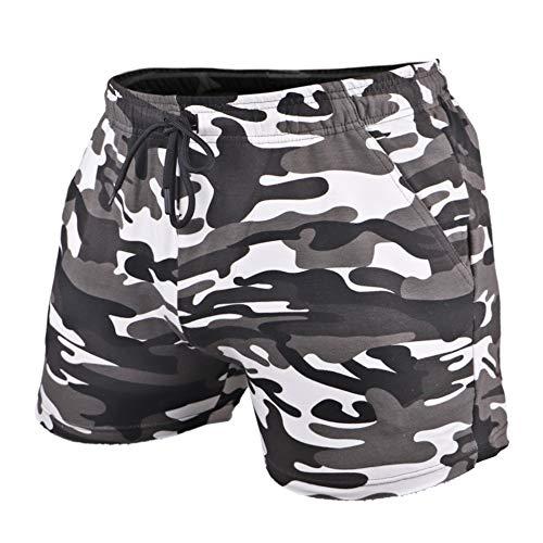 GYMAPE Shorts De Entrenamiento para Hombre Entrepierna De 4 Pulgadas Slim Fit Elástico 95% Algodón De Felpa 5% Elastano para Correr, Culturismo, Deportes