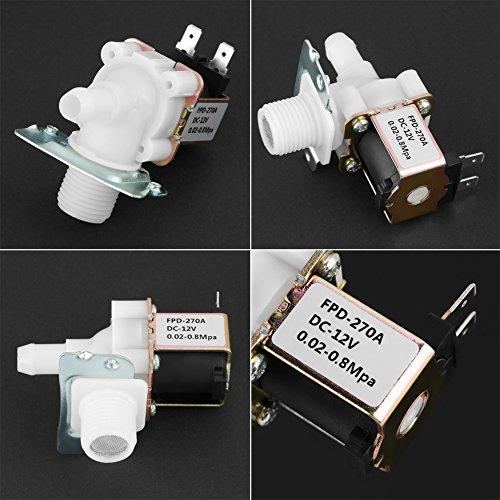 Válvula solenoide estable de plástico + latón N/C Válvula solenoide, calentador de agua solar para equipos eléctricos