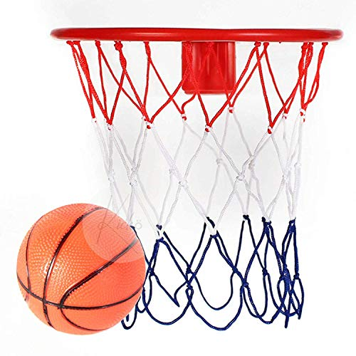 Kicko Over The Door Basketball Hoop and Ball Set - 1 Pack - 8 Inch - for Kids, Party Favors, Stocking Stuffers, Classroom Prizes, Decorations, Birthday Supplies, Holidays, Pinata Filler, and Rewards