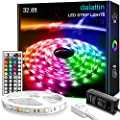 32.8ft Dalattin LED Strip Lights 5050 RGB 300 LEDs Ultra-Long Color Changing Lights Strip with 44 Keys IR Remote and 12V Power Supply LED Lights for Bedroom Home Kitchen Indoor Decoration(1×32.8ft)