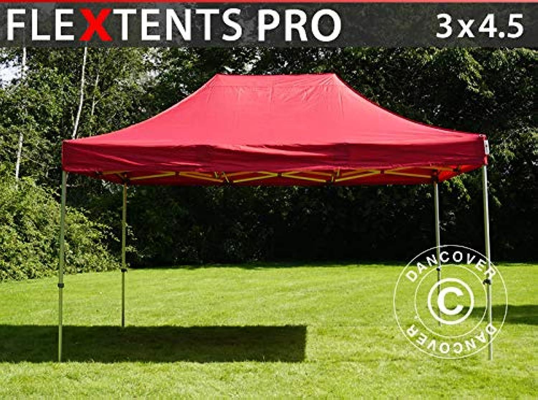 Dancover Faltzelt Faltpavillon Wasserdicht FleXtents PRO 3x4,5m Rot