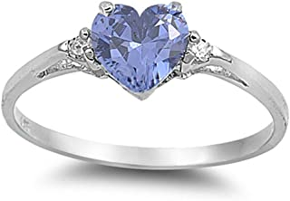 Sterling Silver Heart Promise Love Girls Kids Jewelry Ring Sizes 3-12 Available