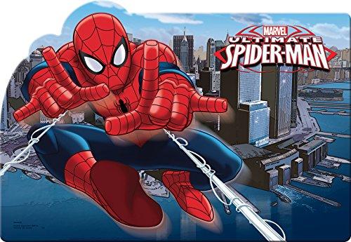 Ciao 33831 Spider-Man City Napperon en Plastique, Bleu
