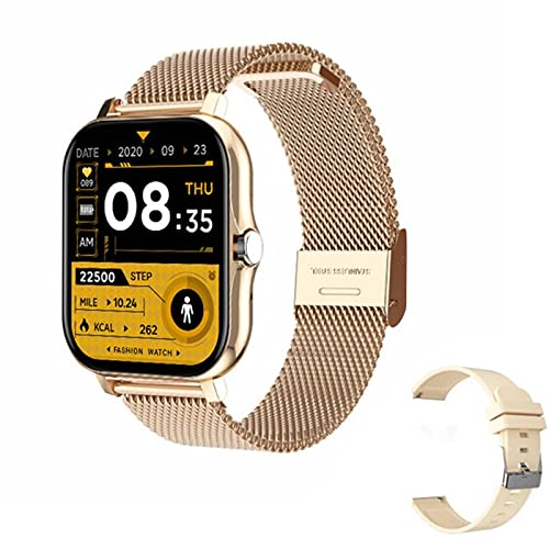 1.69 Inch Fashion Big Screen Sports Monitoring Bracelet Heart Rate Blood Pressure Health Management IP67 Waterproof Bluetooth Call Information Push Multifunctional Smart Watch With Replacement Strap
