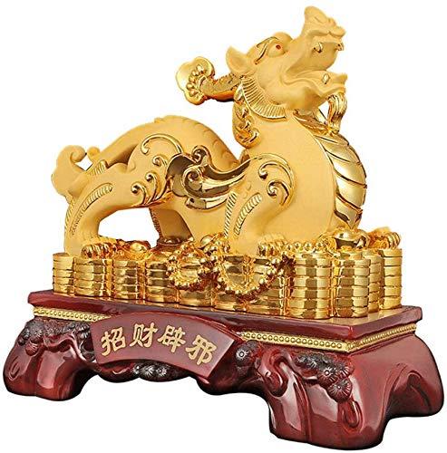 FGVBC Feng Shui Pi Xiu Estatua Pi Yao Escultura Estatuilla para la Riqueza Suerte Protección de la Prosperidad Decoración del hogar Decoración Colección de Regalos, D