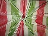 TheFabricFactory Seide Taft Stoff grün Creme & Rosa