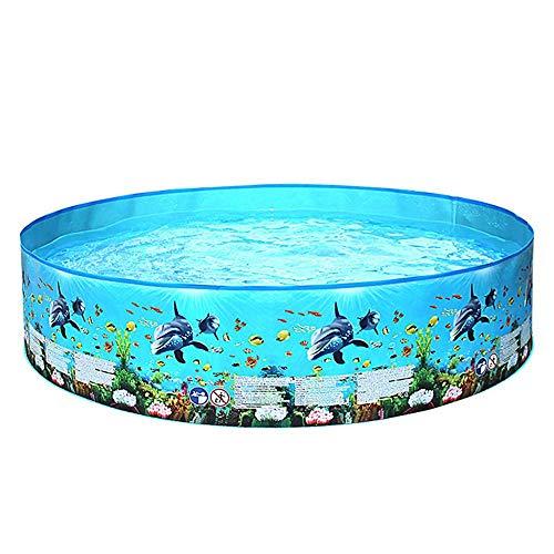 Piscina de gran tamaño 1-8 personas PVC Piscina gruesa resistente a la abrasión Interacción familiar Fiesta acuática de verano Piscina para niños Adultos al aire libre, jardín, piscinas en el jardín