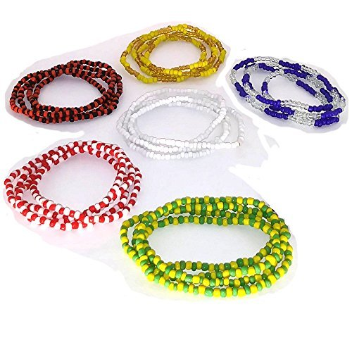 Osha Designs Halskrause für Santeria, Eleggua, Obbatala, Shango, Yemaya, Oshun Y Orula, Ifa, Religion Yoruba, Afro-Cubana