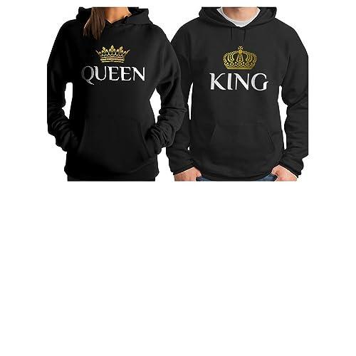 94f851c39 King & Queen Matching Couple Hoodie Set His & Hers Hoodies