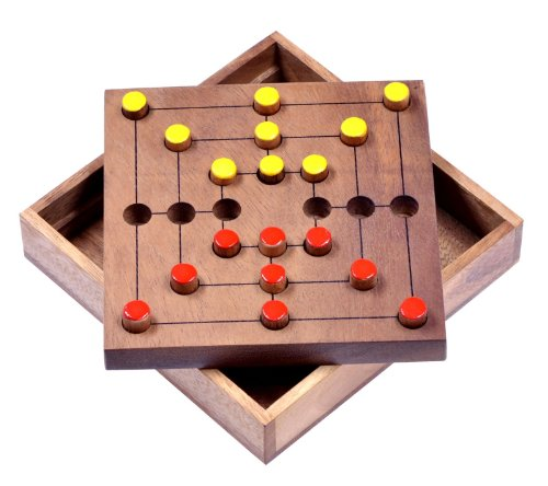 Mühle Gr. L - Strategy - Strategiespiel - Denkspiel - Brettspiel aus Holz