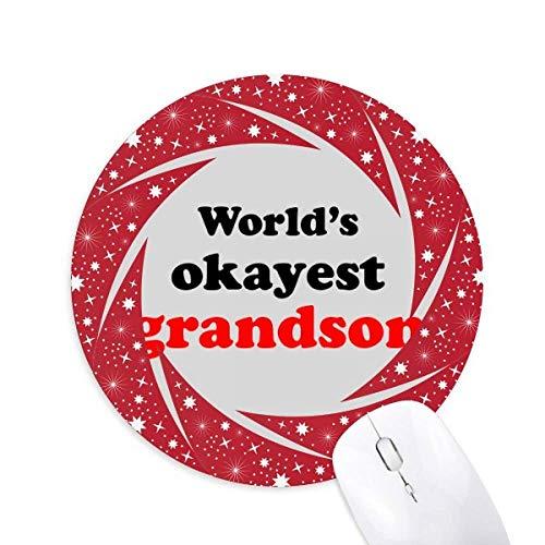 Okayest Enkel der Welt Bester Zitat Rad Maus Pad Round Red Rubber