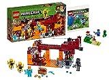 Lego Minecraft 21154 Lego- Die Brücke, Bauset Steve und Creeper Polybag Set 30393