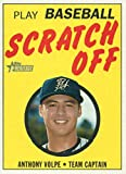 2020 Topps Heritage Minors 1971 Scratch Off #14 Anthony Volpe RC Rookie Pulaski Yankees Baseball Trading Card. rookie card picture