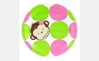 CafePress Happy Monkey Womens Pink Nightshirt Nightshirt