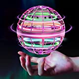Flying Orb Ball Toys【2021 Upgraded】 Soaring Hover Flytoy Pro Boomerang Spinner Hand Controlled Mini Drone Globe Shape UFO Spinning Safe for Kids Adults Outdoor Indoor by Tikduck (Pink)