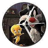 MasTazas Looney Tunes Silvestre Piolin Tweety Reloj CD Clock 12cm