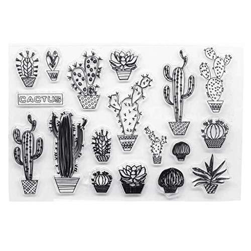 Kaktus Muster transparent klar Silikon Stempel DIY Scrapbooking Fotoalbum dekorative Papierkarte Handwerk Kunst handgemachtes Geschenk