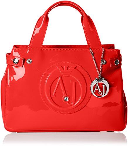 Armani Jeans Shoes & Bags DE Damen 0529B55 Henkeltaschen, Rot (Rosso - RED 4L), 10x22x32 cm