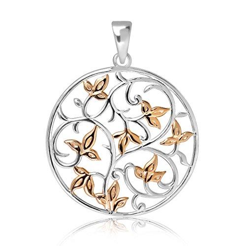 WithLoveSilver de plata de ley 925Charm flor árbol de la vida colgante