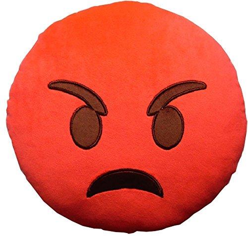 """minifamily® 32cm Emoji-Kissen Smiley Emoticon Kissen gefüllt """"weichen Plüsch Spielzeug Puppe Geschenk Home Decor (Angry)"""