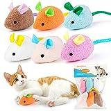 Dorakitten Juguetes de menta para gatos, 6 unidades, juguete interactivo para gatos. Bonito ratón de peluche Bionic con menta para gato.