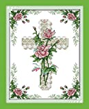 Printed Cross Stitch Kits 11CT 10X14 inch 100% Cotton Holiday Gift DIY Embroidery Starter ...