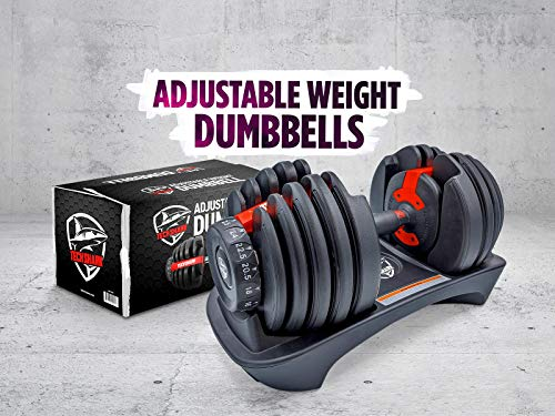 Dumbbell Weight Set Adjustable Weights Barbell Combination Body Building Automatically Dumbell Training 50 LB Fitness (1 Pack)
