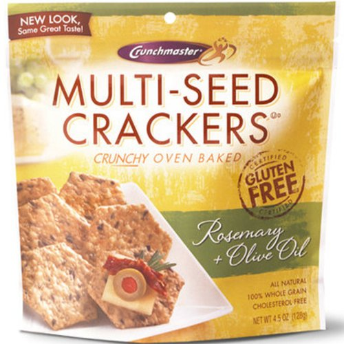 Crunchmaster Crackers Rosemary & Olive Oil - 2 / 4.5 Oz Bags