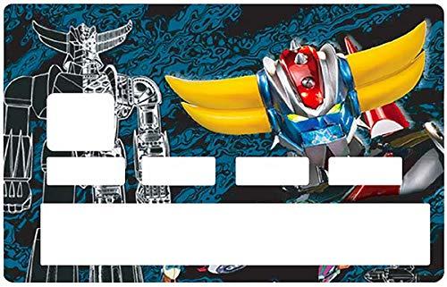 Sticker pour carte bancaire, Tribute to GOLDORAK édition limitée 100 ex. - Différenciez et décorez votre carte bancaire suivant vos envies!! Facile à poser, sans bulle