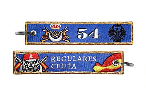 Llavero Bordado Ejército de Tierra Grupo de Regulares de Ceuta nº 54 Militar Fuerzas Armadas