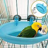 LYDCX Baignoire Perroquet avec Miroir Cage À Oiseaux Accessoires Miroir Baignoire Douche Boîte Petit Cage Perroquet Pet Jouets Perroquet Jouet