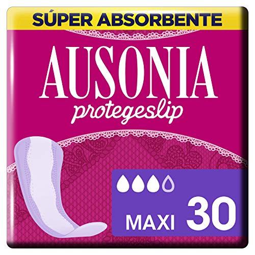 Ausonia Maxi Protegeslips 30 Unidades, Sistema No Olor, Máxima Protección Diaria