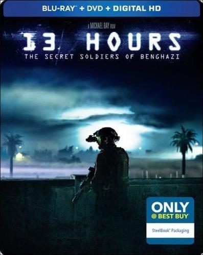 13 Hours: The Secret Soldiers of Benghazi Steelbook with Bonus Content (Blu Ray + DVD + Digital HD)
