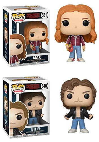 FunkoPOP Stranger Things: Max + Billy – Stylized Netflix Vinyl Figure Set NEW