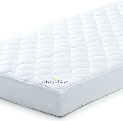 Cubrecamas para colchón (140 x 200), lavable con agua caliente, transpirable, poliéster de microfibra, también adecuado para camas con somier y camas ...