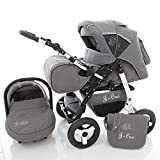 3 in 1 Combi pram Pushchair Stroller Complete Set...