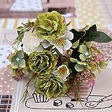 Barley33 Vintage Soie Fleurs Artificielles DIY Faux Roses Arrangements Bouquets De Mariage Décorations De Table pour La Maison Cuisine Jardin