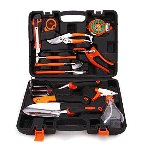 12 pièces Combinaison outils de jardin de ruban en acier couteau utilitaire Pelle Vaporisateur jardinage Cisailles à haute qualité de Zt019