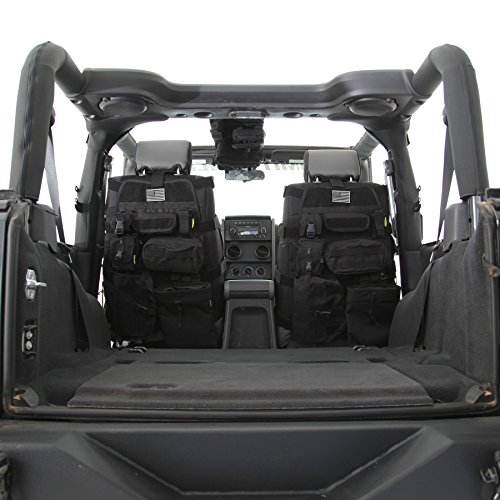 Smittybilt 5661001 GEAR Black Front Seat Cover