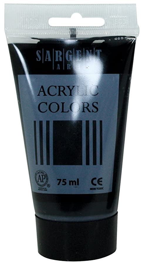 Sargent Art 23-0285 75Ml Tube Acrylic Paint, Mars Black