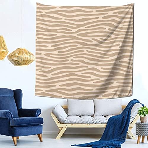 Gbyuhjbujhhjnuj Tapiz para colgar en la pared con diseño de cebra o rayas salvajes, diseño de animales punk, para sala de estar y dormitorio, 152 x 152 cm