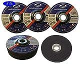Dischi per sgrossatura, 5 pezzi, Ø 125 x 6 mm, per smerigliatrice angolare o da taglio, p...