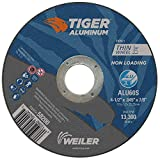 Weiler 58200 4-1/2 x .045 Tiger Aluminum Type 1 Cut Off Wheel ALU60S 7/8 A.H (Pack of 25)