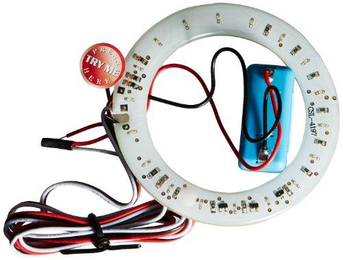 FK Automotive FKBP0101315 Anneau lumineux LED pour haut-parleur avec 18 LED, 1,7 W, 12 V (Rouge)
