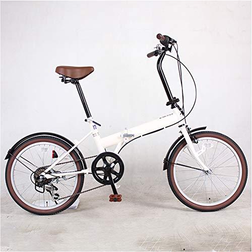 ZHIFENGLIU Bicicleta Plegable, Viajes Unisex Y Vehículos De Recreo, De Aleación De Aluminio Scooter Pequeño Real, La Juventud Portátil Scooters,Blanco