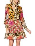 Silvian Heach Dress Abbruzzi Vestido, Multicolor (Fant.Uniq Fant.Uniq), Medium para Mujer