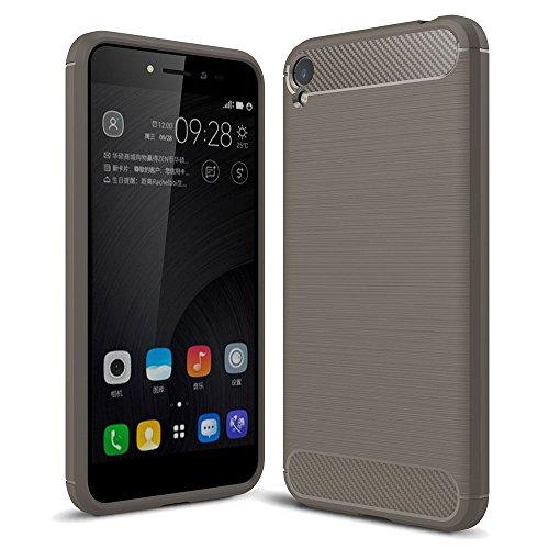 König Design Handy-Hülle kompatibel mit Asus Zenfone Live ZB501KL Silikon Hülle Hülle Sturzsichere Back-Cover Handyhülle - Carbon - Grau
