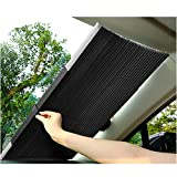Sonnenschutz Auto Teleskopisch Heckscheibe Und Frontscheibe Innen Sonnenschutz Aluminium Saugnapf Auto Uvschutz für Kleine Autos SUV LKW (65cm)